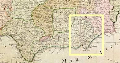 La provincia de Almería, en el oriente del Reino de Granada, y en el límite con el de Murcia